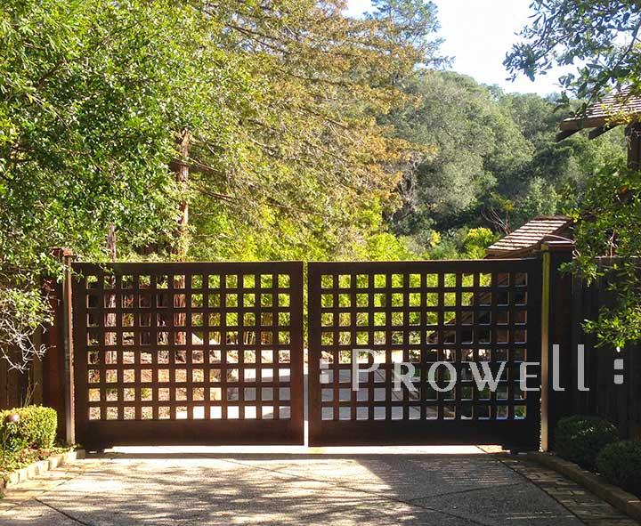 custom wood driveway gates #13 in Kentfield, CA