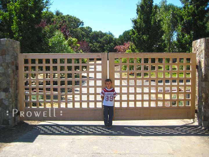 wood driveway gates #13 in Marin County, CA