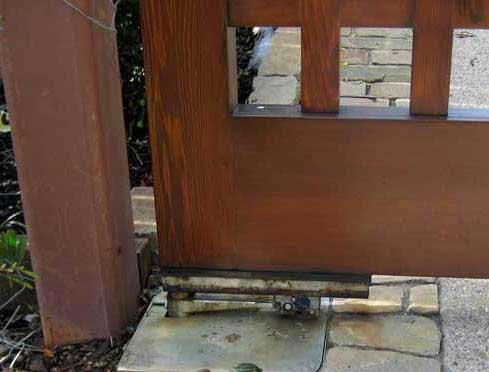wood driveway gates automated