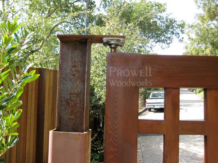 Wood Driveway Gate #13 automated