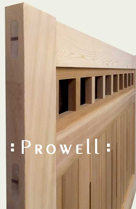 wood joinery for driveway gates by Prowell