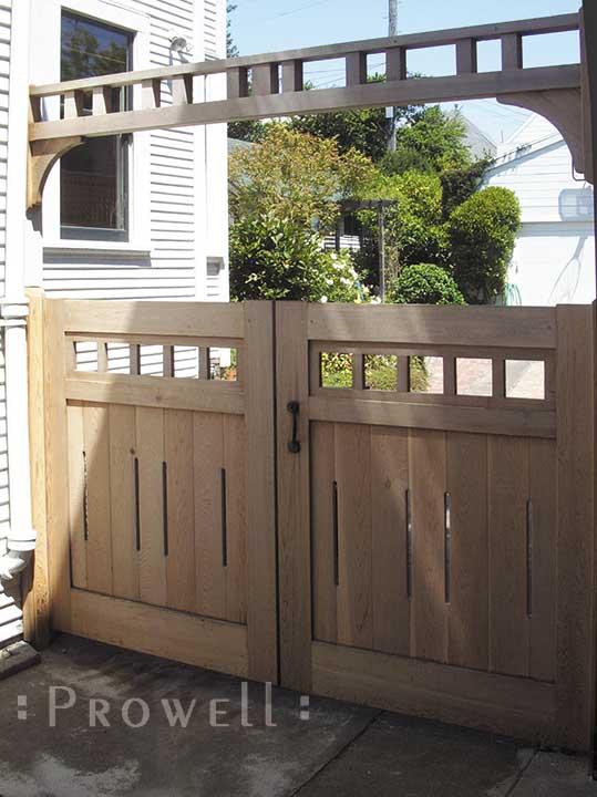 wood driveway gates in San Francisco, CA