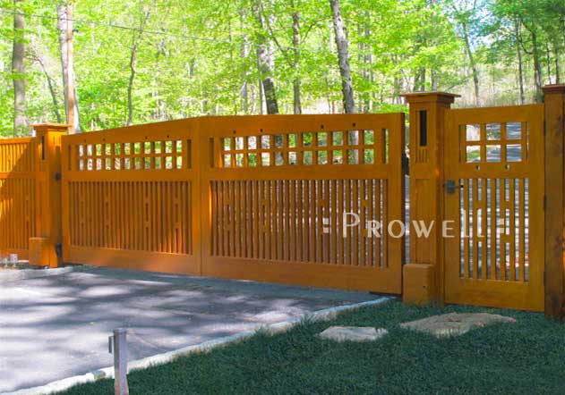 custom wood driveway gates #16 in New York Hudson Valley