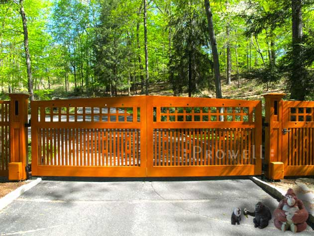 wood driveway gates #16 in upstate New York