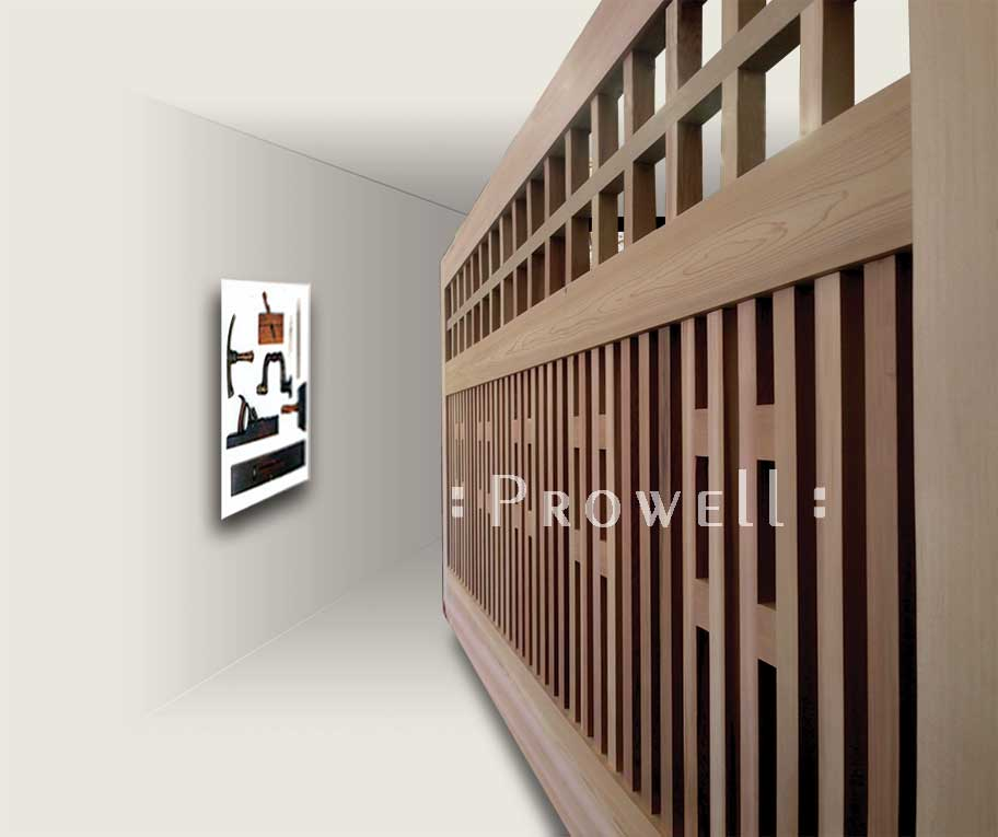 craftsman wood gate #16-5. prowell woodworks