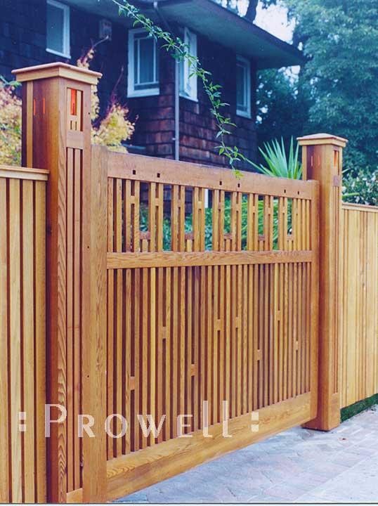 wood gate columns
