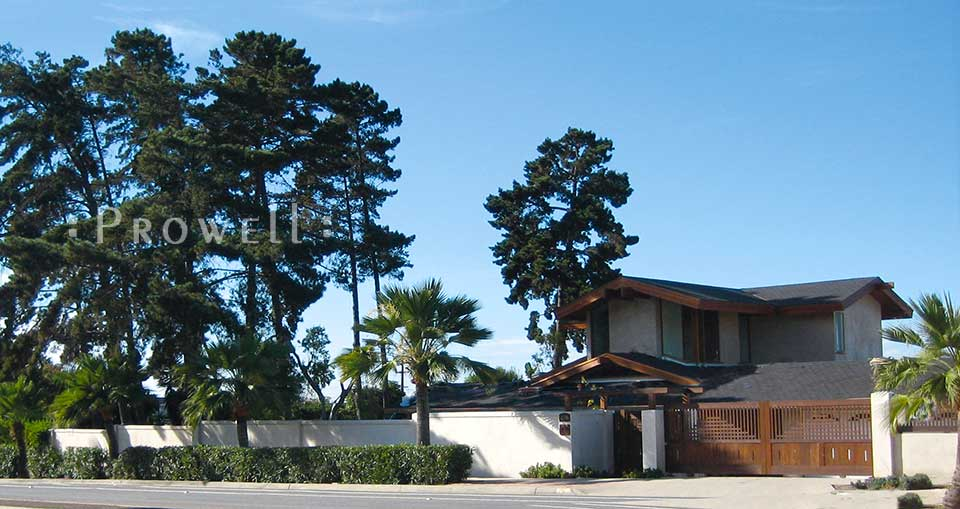 Sliding wood driveway gates #24 in San Diego