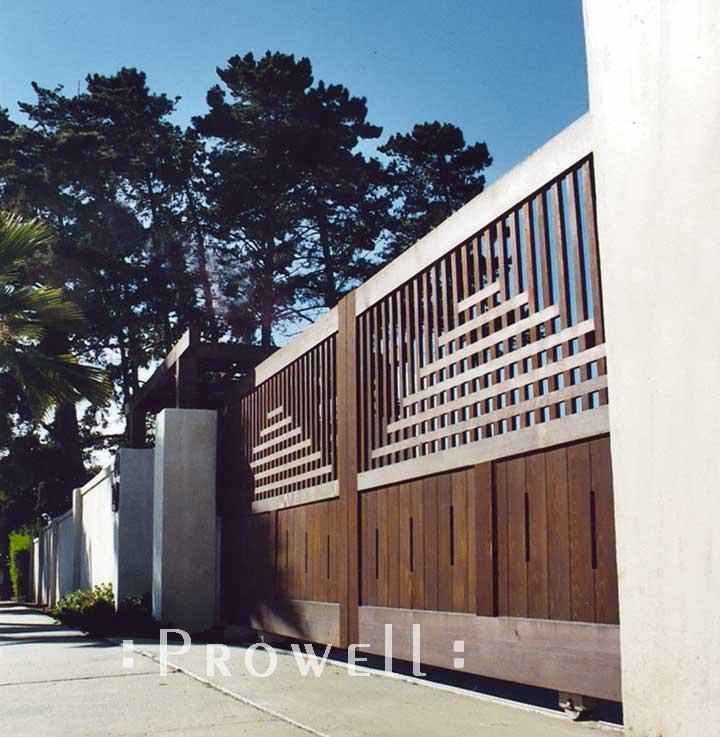 wood entrance driveway gates in San Diego, ca
