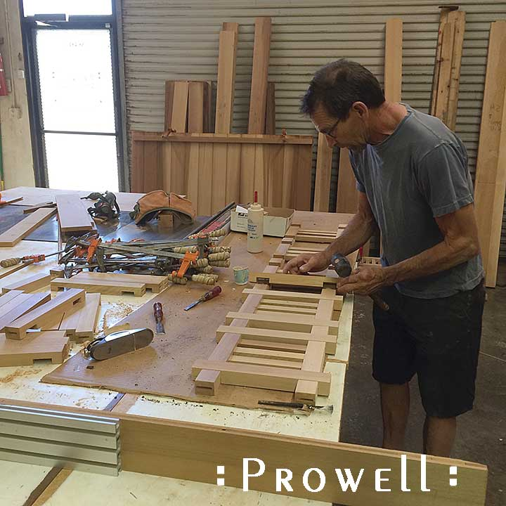 how to create the joinery for a Prowell Driveway Gate