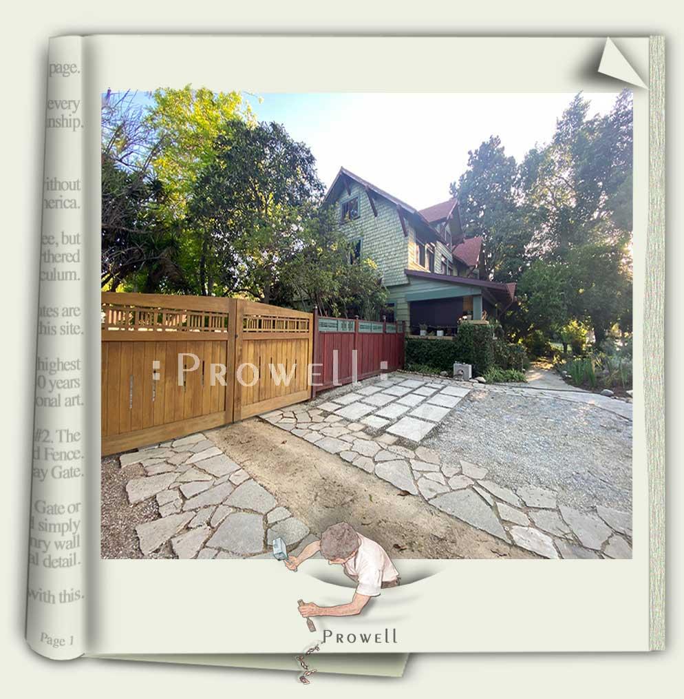 custom wood driveway gate #29-1c in Pasadena, CA prowell