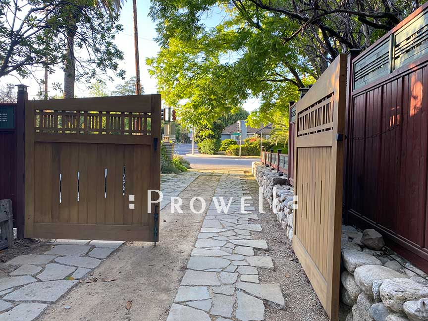 Wood Driveway Gates #29-1d in Pasadena, CA prowell