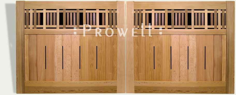 Arts and Crafts Wood driveway Gates #29