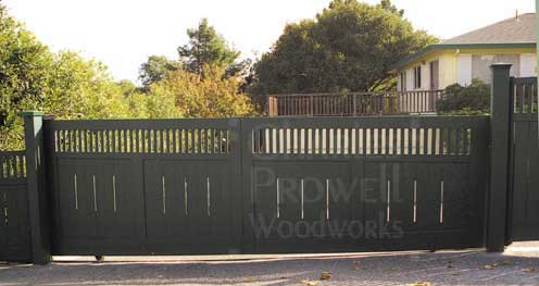 wood driveway gates #2 in Sonoma County, CA