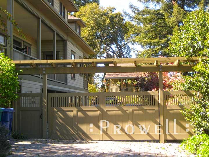 custom wood driveway gate #2-6 n sonoma county, ca