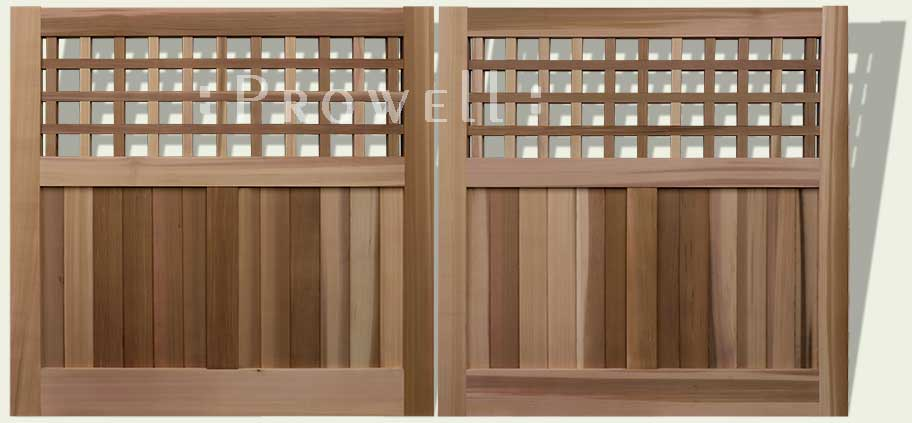 custom wood driveway gates with grids in New Jersey