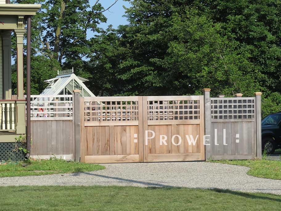 custom wood driveway gates #31-1 in new jersey. Prowell