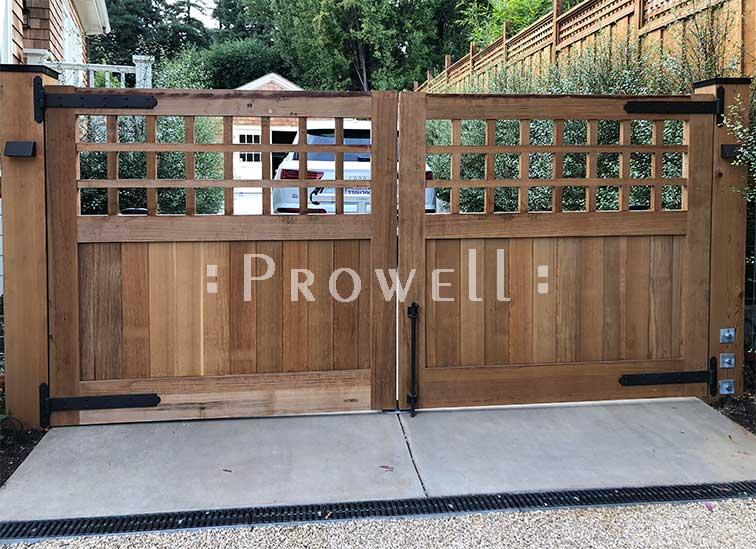 custom wood driveway gates #31-2 in Marin County. prowell