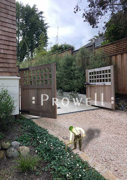 Wood Driveway Gate #31-2b in Mill Valley, CA. Prowell