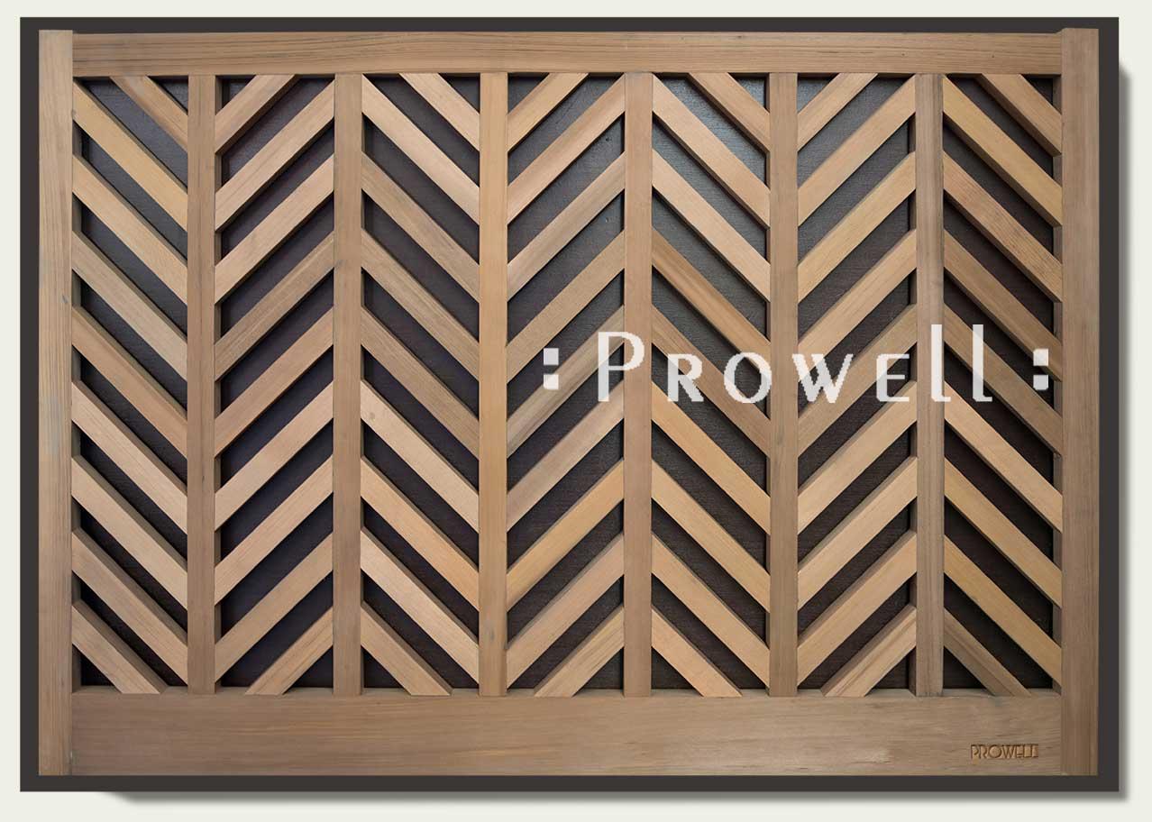 chevron wood fence #13. prowell