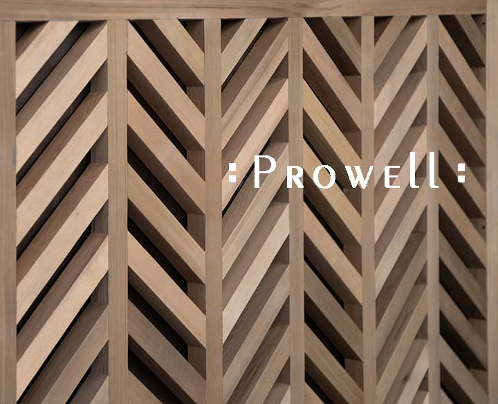 Chevron wood fence style 13. Prowell