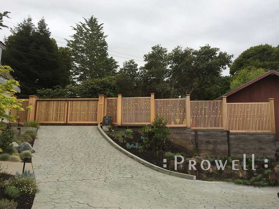 Wood fences and gates in Mill Valley, CA. Prowell