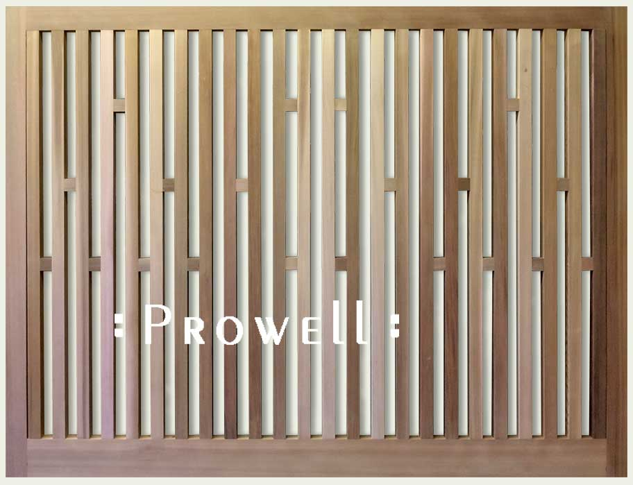 Wood open fence #6, Prowell