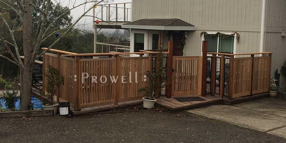 custom wood garden fence #16-6. prowell