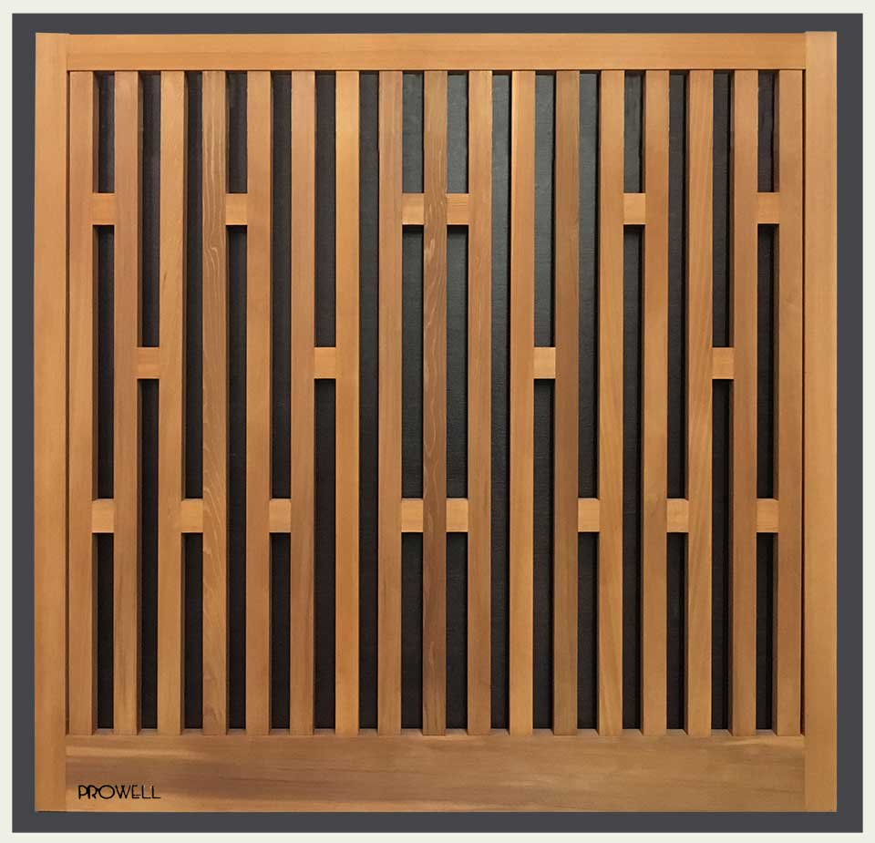 Custom wood garden fence #16-7. Prowell
