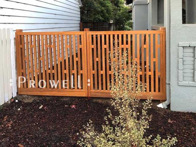 custom wood garden fence #16-7 in Alameda, CA. prowell