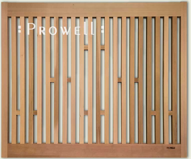 wood open picket garden fence 16-9. prowell