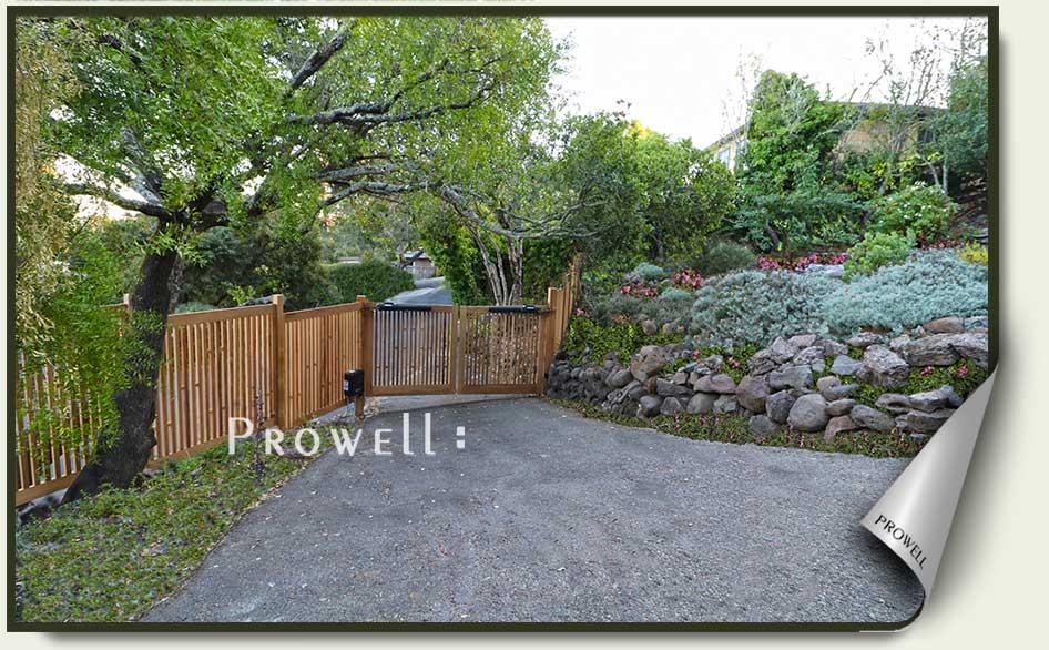 Automatic wood driveway gate #16-9b i Marin county, ca. prowell