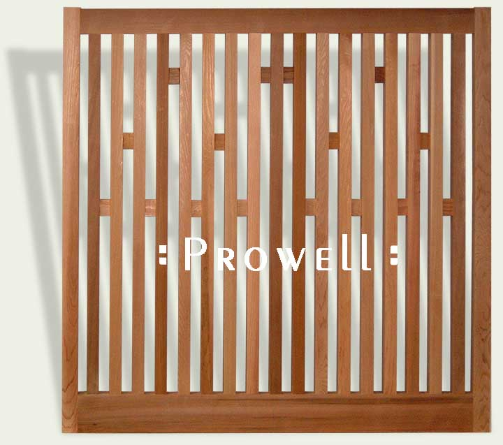 Custom wood fence Panels in the San Francisco Bay Area
