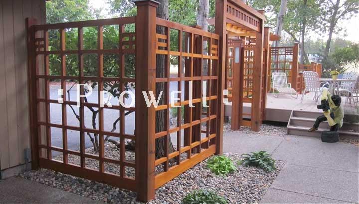 Custom wood fence Panel #19 in Minnesota