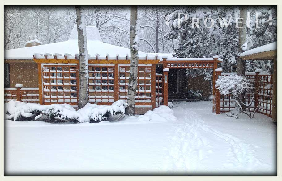 wood fence #19 in winter. prowell