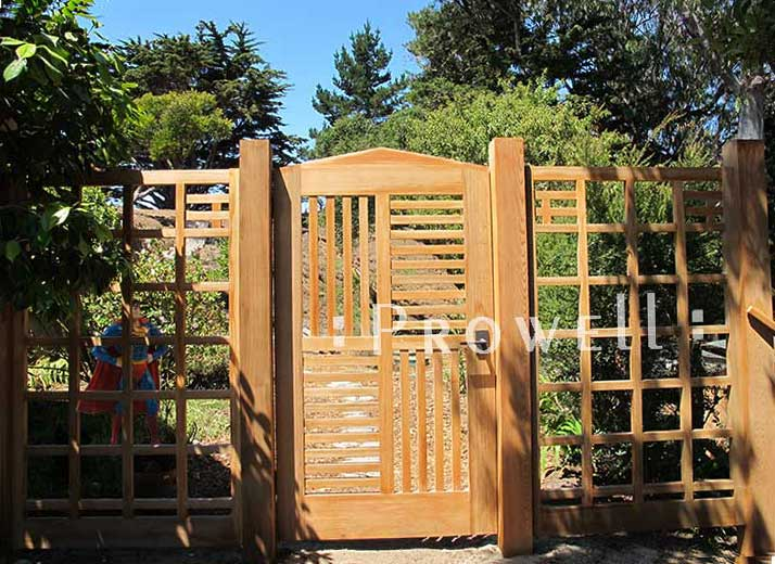 Custom wood fencing Panels in the San Francisco bay area