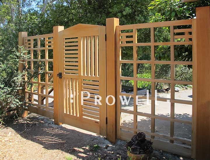 wood garden fence #19 in San Francisco bay area