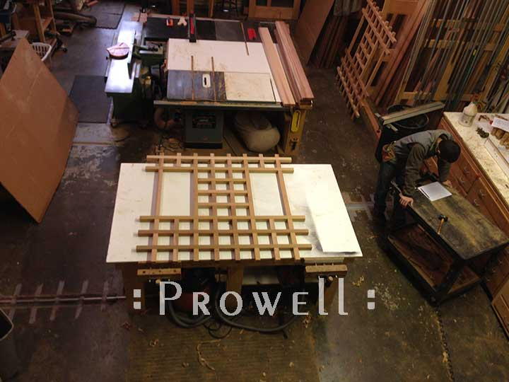 Building fence style #19-5. Prowell woodworks.