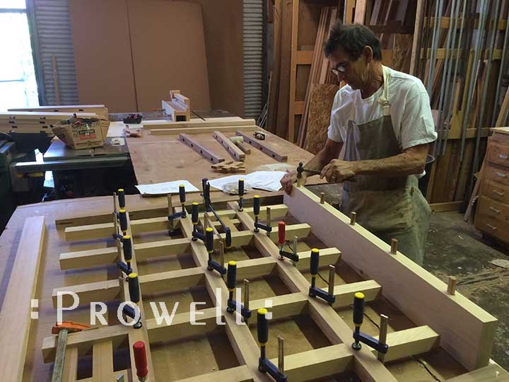 Building Fence style #19-7. Prowell woodworks
