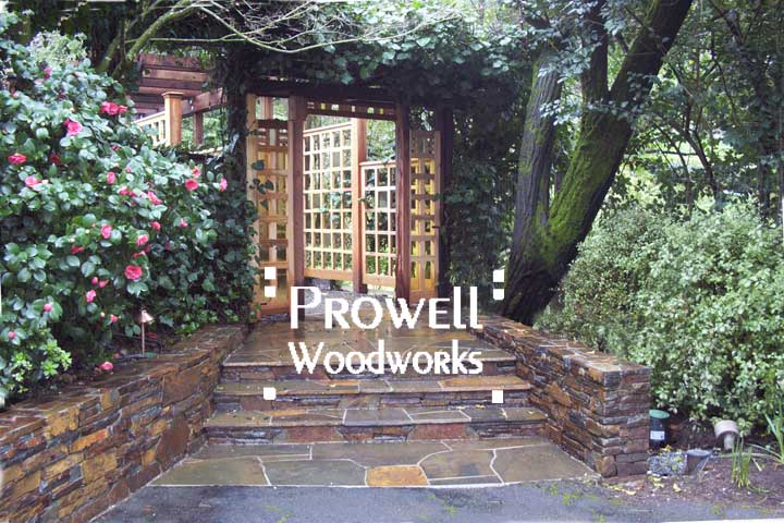 Prowell's custom wood fence Panel #19 in Marin County, CA