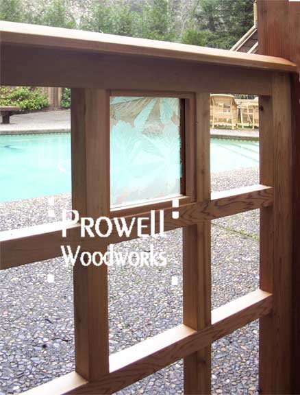 custom wood fence Panel by Prowell Woodworks