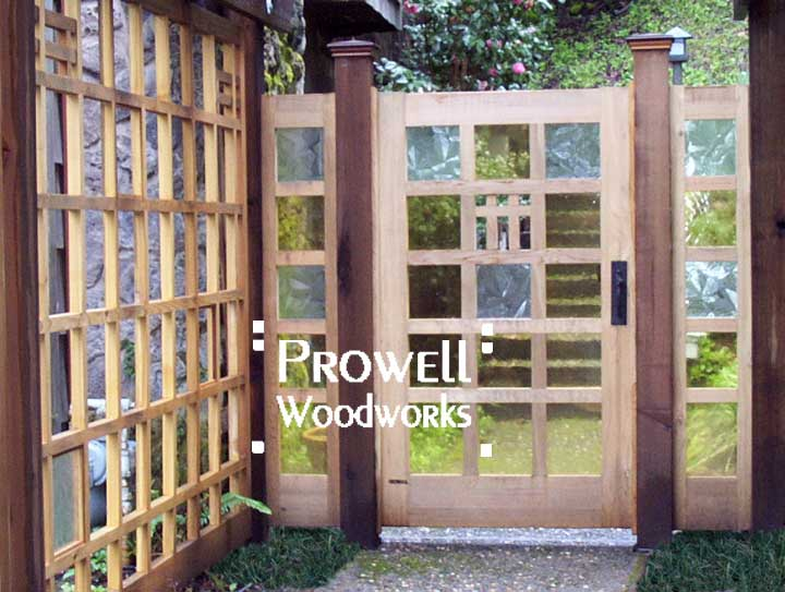 custom wood garden gate #97 in Marin County, CA