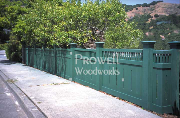 Wood garden fences panels #1-13 in Marin County, CA