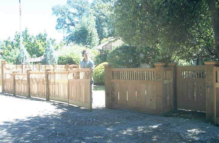 How to install a wood fence