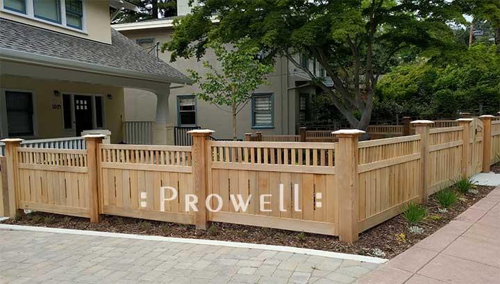 custom wood fence in Berkeley. prowell