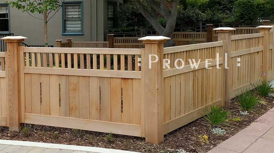 wood garden fence #1. Prowell