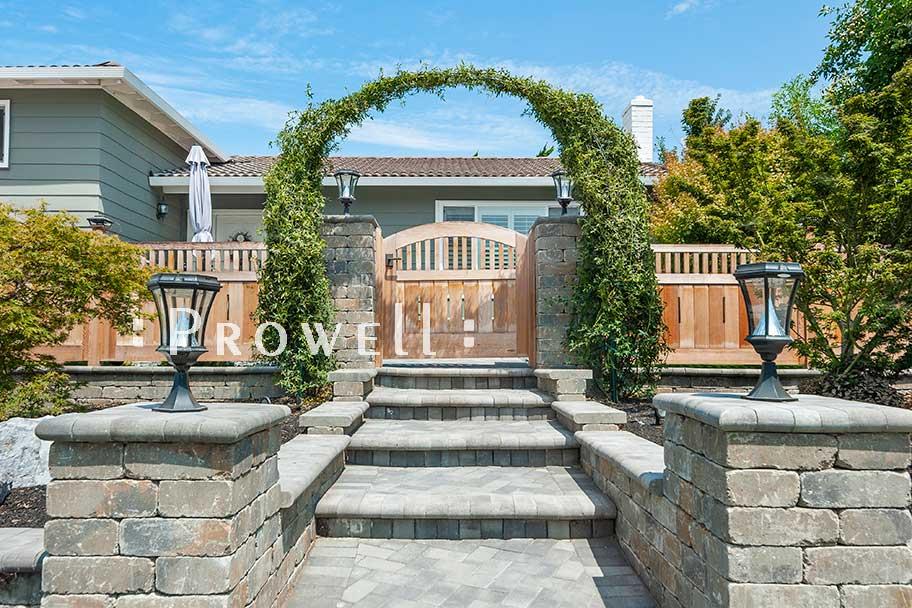custom wood garden fence #1-19 in San Jose, CA. Prowell