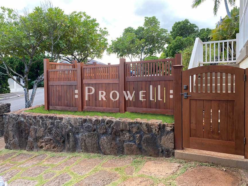custom wood garden fence 1-20a in Hawaii