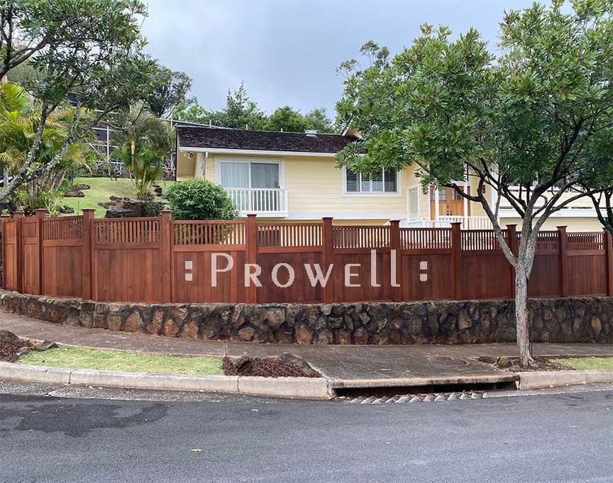 custom wood garden fence 1-20b in Honolulu, Hawaii