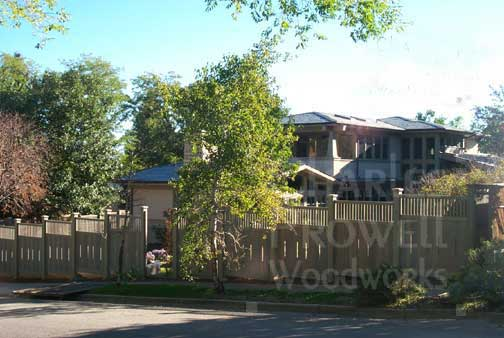 curved fence Panels in boulder, Colorado
