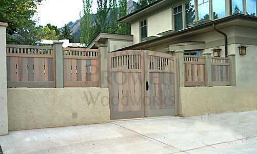 Sloping grade Fence Panels in Denver, Colorado